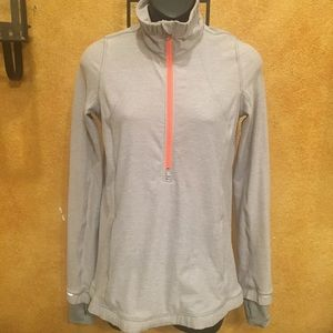 Lululemon Forthright 1/2 Zip Gray Jacket  - Sz 4